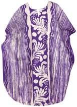 LA LEELA Women's Kaftan Bathing Suit Cover Up Beach Party Outfit Hand Batik