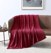 Love's cabin Flannel Fleece Blanket Throw Size Red Throw Blanket for Couch, Extra Soft Double Side Fuzzy & Plush Fall Blanket, Fluffy Cozy Blanket for Adults Kids or Pet (Lightweight,Non Shedding)