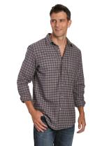 Noble Mount 100% Cotton Plaid Mens Flannel Shirts - Regular Fit