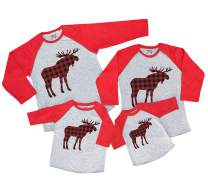 7 ate 9 Apparel Matching Family Christmas Shirts - Plaid Moose Red Shirt