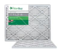 FilterBuy 16x30x1 MERV 8 Pleated AC Furnace Air Filter, (Pack of 2 Filters), 16x30x1 – Silver