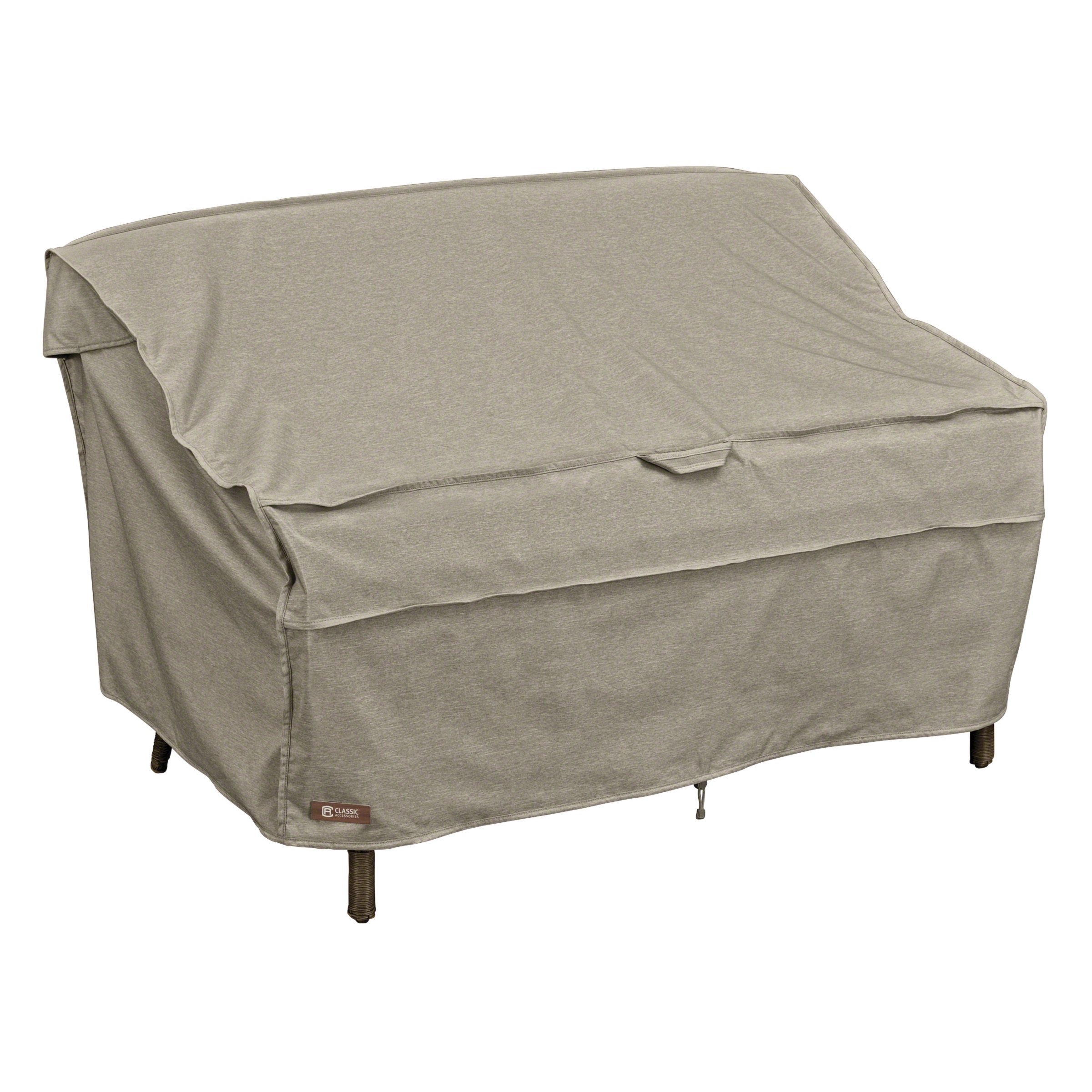 Classic Accessories Montlake Water-Resistant 58 Inch Patio Bench/Loveseat/Sofa Cover