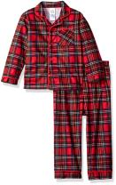 Little Me Boys' Holiday 2 Piece Pajama Set