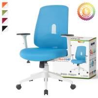 NOUHAUS Palette Ergonomic Office Chair Comfortable Swivel Computer Desk Chair, Lumbar Adjust Rolling Chair. (Blue)