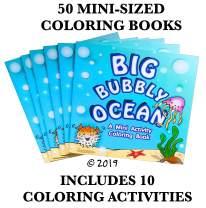 """(50 Pack) 4.75"""" x 4.75"""" Ocean Mini Coloring Books for Kids Bulk (Mini Coloring Books Bulk, Coloring Book Party Favors, Ocean Animal Coloring Book, Goodie Bag Coloring Book)"""