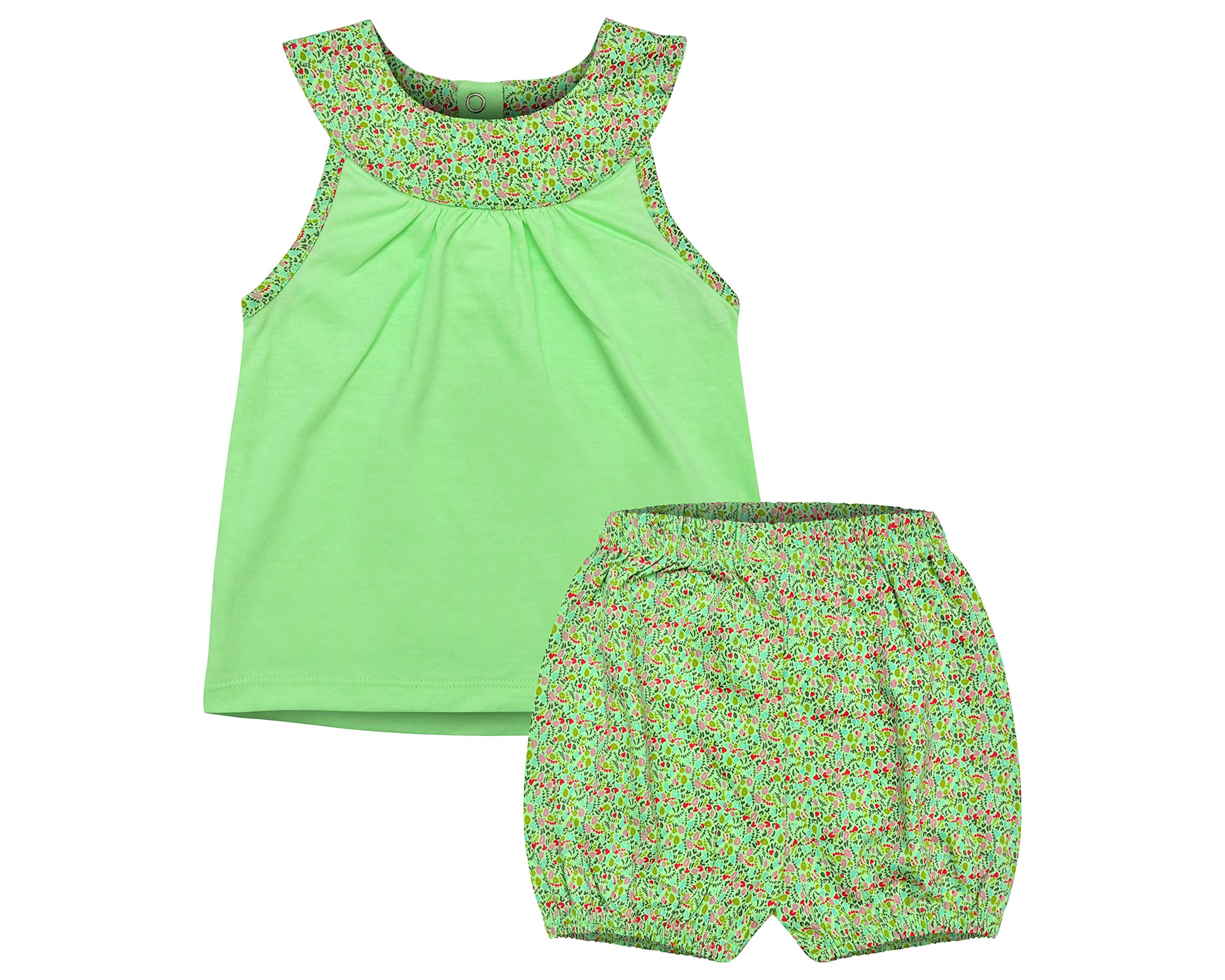 Clover Kingdom Baby and Toddler Girls Dress Set-100% Cotton Outfit for Infant Girl