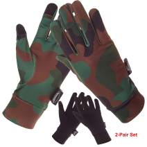 Running Gloves, Touch Screen Camo Lightweight Glove Liners for Cycling Biking Sporting Driving - Men Women Youth Boys and Girls Runners
