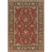 Surya CAE-1007 Caesar Rust Red 2-Feet 6-Inch by 8-Feet Area Rug