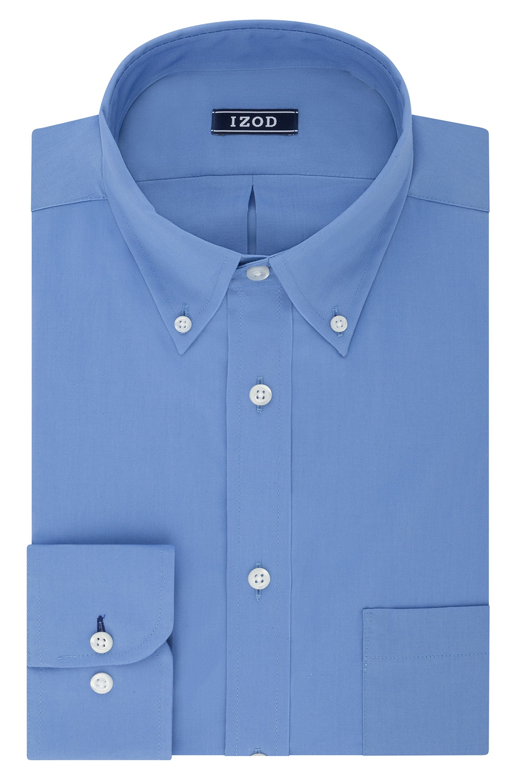 Izod Men's BIG FIT Dress Shirts Stretch Solid (Big and Tall)