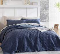 Bedsure Blue Bedspreads Twin Size - Twin Quilt Bedding Set, 120GSM Embossed Cationic Dyeing Coverlet, 2 Pieces (68x86 inches)