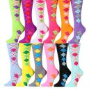 Yacht & Smith Womens Wholesale Bulk Value Pack Printed Colorful Crew & Ankle Sport Socks