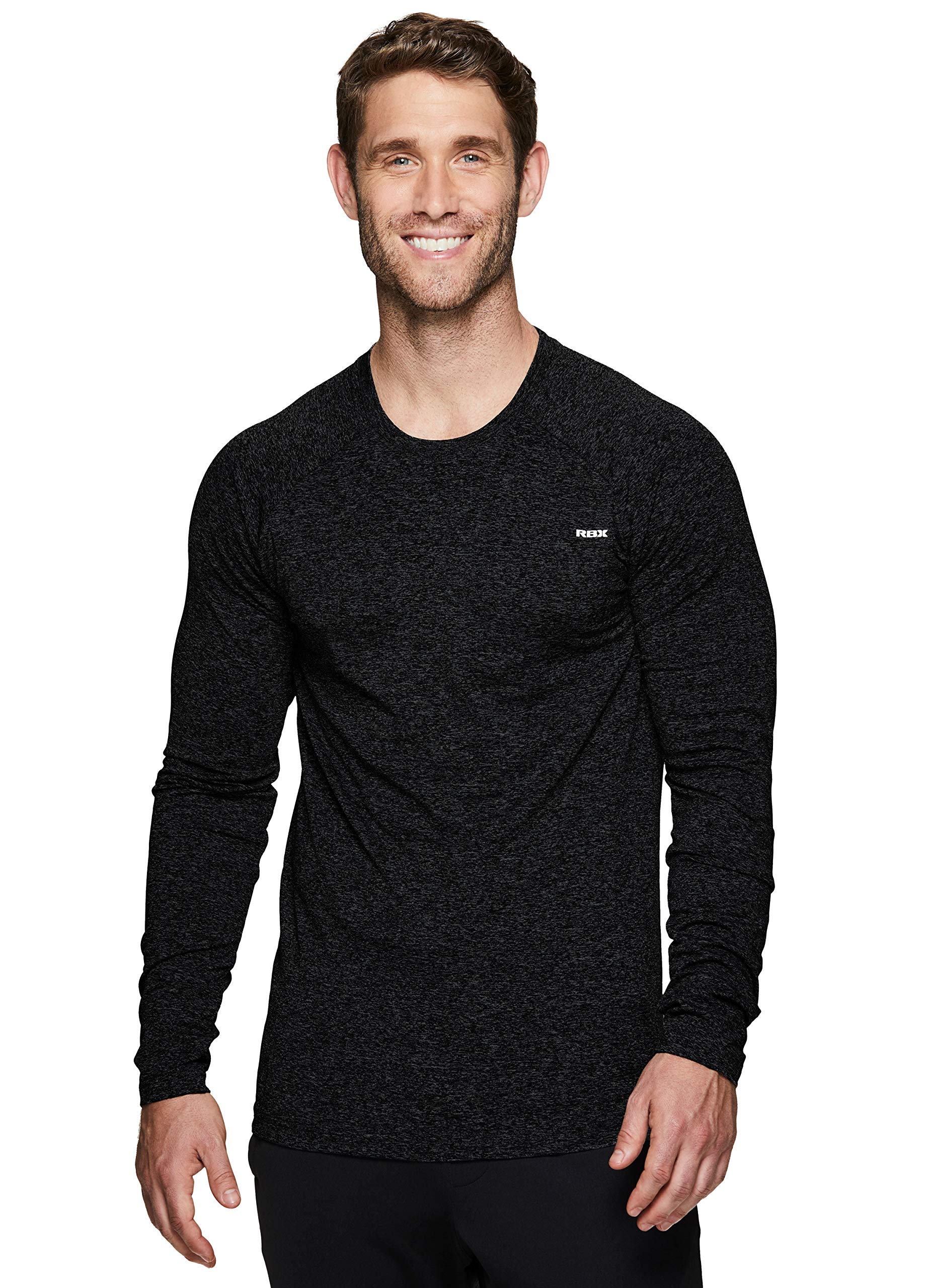 RBX Active Men's Long Sleeve Crew Neck Athletic Performance Base Layer T-Shirt