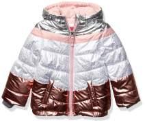 LONDON FOG Girls' Little Shine Puffer Jacket