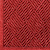 "M+A Matting 221 Waterhog Fashion Diamond Polypropylene Fiber Entrance Indoor/Outdoor Floor Mat, SBR Rubber Backing, 4' Length x 3' Width, 3/8"" Thick, Solid Red"