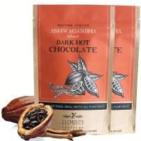 Elements Truffles Ashwagandha Infused Dark Hot Chocolate - All-Natural, Handmade, Small-Batch Dark Hot Chocolate Mix With Ecuadorian, Fair Trade, Organic Cacao Powder - Vegan Hot Cocoa Mix - 16 Ounces