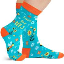 Lavley - Save The Environment - Men's and Women's Novelty Socks (Bees, Turtles, Rainforest)