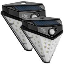 INTELLUCE-Solar Lights Outdoor, 32-LED Solar Lights Outdoor Motion Sensor, Unique New Solar Wave Technology, Eco Friendly Pretty Bright Light, 600 Lm (2Pack)