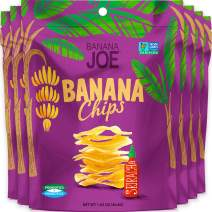 Banana Chips - Dried Bananas Gluten Free Chips (Siracha flavor) Dehydrated Fruits Healthy Chips Snacks For Adults & Kids - Vegan Paleo non gmo Dried Fruits Snacks (Made From 100% Real Banana) 6 Packs
