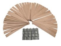 """EricX Light 40 Piece 5"""" Wood Candle Wicks,for Candle Making,Candle DIY"""