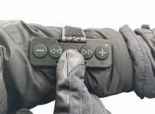 Chubby Buttons 2- Wearable & Stickable Bluetooth 5.1 Remote   Big Buttons for Gloves   Water-Resistant