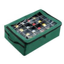 Tiny Tim Totes 83-DT5575 Premium | 48 Christmas Ornament Organizer Storage Box | Green, Case