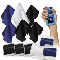 Clean Screen Wizard Microfiber Cleaning Cloths and Microfibre Sticker Screen Cleaner (7 Pack)