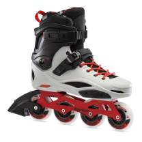 Rollerblade RB Pro X Unisex Adult Fitness Inline Skate, Grey/Warm Red, Urban Performance Inline Skates