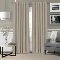 "Elrene Home Fashions Elrene Leila Matelasse Single Blackout Window Curtain Panel, 52""x84"" (1, Beige (Ecru)"