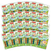 Bendon 42553-Amzb Fisher-Price 32-Page Coloring and Activity Book with Crayons (24-Count)