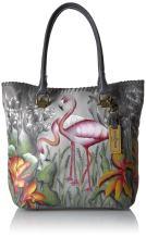 Anuschka Women's Leather Large Tote, Flamboyant Flamingos