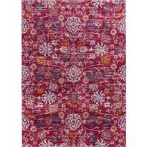 Decomall Vienna Area Rug 2x3 ft Oriental Floral Persian Vintage Throw Accent Rug Door Mat for Entryway, 2x3', Red