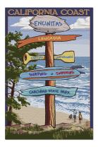 Encinitas, California - Destinations Sign (Premium 1000 Piece Jigsaw Puzzle for Adults, 20x30, Made in USA!)