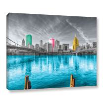 ArtWall Revolver Ocelot 'Pittsburgh' Gallery-Wrapped Canvas Artwork, 32 by 48-Inch