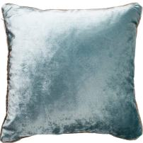 McAlister Textiles Shiny Velvet Cushion Cover | Duck Egg Blue Metallic Look Designer Plain Hand-Made Bedroom Decor Throw Sofa Pillow for Bedroom Sofa Living Room | Dimensions - 20 x 20 Inches