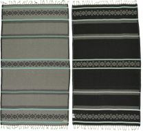 Bersuse 100% Organic Cotton Waikiki Turkish Towel - 37X70 Inches, Grey/Mint Green, 1 Piece