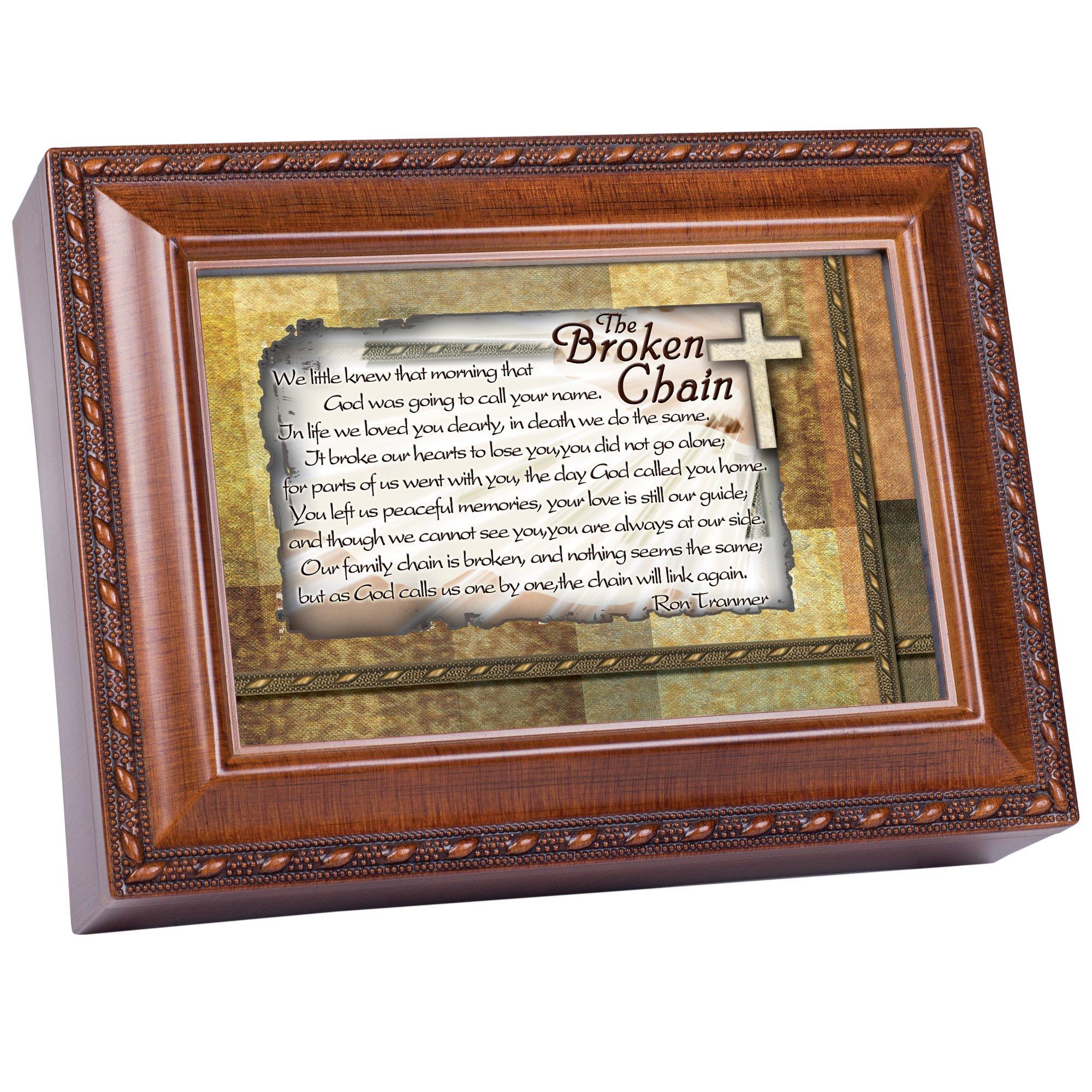 Cottage Garden The Broken Chain Inspirational Woodgrain Traditional Music Box Plays Amazing Grace
