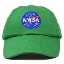 DALIX NASA Hat Baseball Cap Washed Cotton Embroidered Logo Pigment Dyed