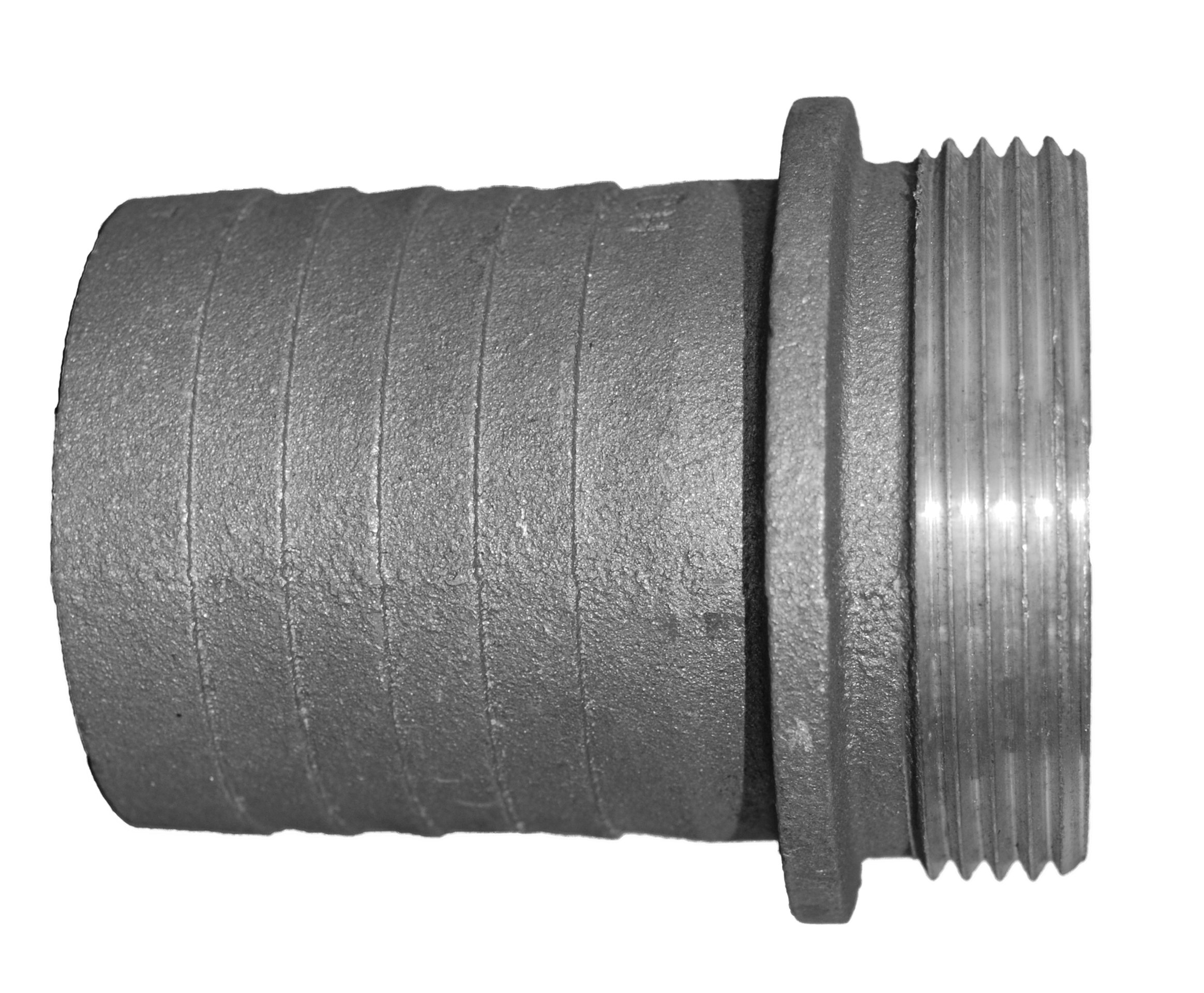 """PT Coupling Special Application Series Malable Iron Discharge and Suction Hose Fitting, Coupling, 1-1/2"""" Male Shank"""