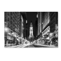 City Hall Philadelphia by Philippe Hugonnard, 30x47-Inch Canvas Wall Art