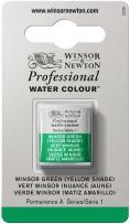 Winsor & Newton Professional Water Colour Paint, Half Pan, Winsor Green (Yellow Shade)