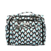 JuJuBe B.F.F Multi-Functional Convertible Diaper Backpack/Messenger Bag, Onyx Collection - Black Diamond