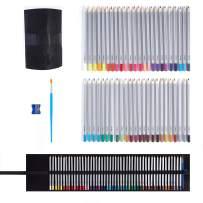 OOKU Artist Pro Watercolor Pencils Set 48 Colors / 51 Pc Full Kit | Wet Water Color Pencils Set / Dry Coloring Pencils Set for Adults, Kids | w/BONUS Wool Pencil Wrap, Watercolor Brush, Sharpener
