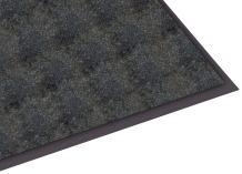 Guardian Silver Series Indoor Walk-Off Floor Mat, Vinyl/Polypropylene, 3'x4', Black