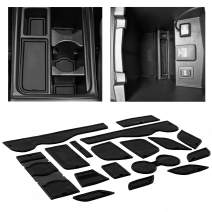CupHolderHero for Honda CR-V Accessories 2015-2016 Premium Custom Interior Non-Slip Anti Dust Cup Holder Inserts, Center Console Liner Mats, Door Pocket Liners 17-pc Set (Solid Black)