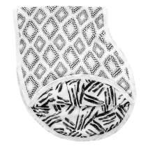 aden + anais Silky Soft Burpy Bib, 100% Viscose from Bamboo Muslin, Soft Absorbent 4 Layers, Multi-Use Burp Cloth and Bib, 22.5'' X 11'', Single, In Motion - Diamonds