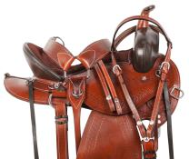 Acerugs 15 16 17 18 Endurance Western Pleasure Trail GAITED Horse Leather Saddle