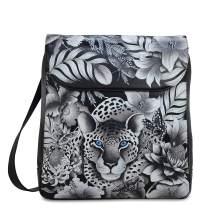 Anuschka Women's Genuine Leather Large Convertible Flap Backpack - Hand Painted Original Artwork