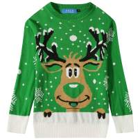 SSLR Big Boys' Funny Crewneck Pullover Ugly Christmas Sweater