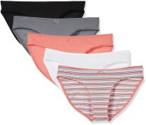 Madeline Kelly Women's 5 Pack Micro Tailored Bikini Panty