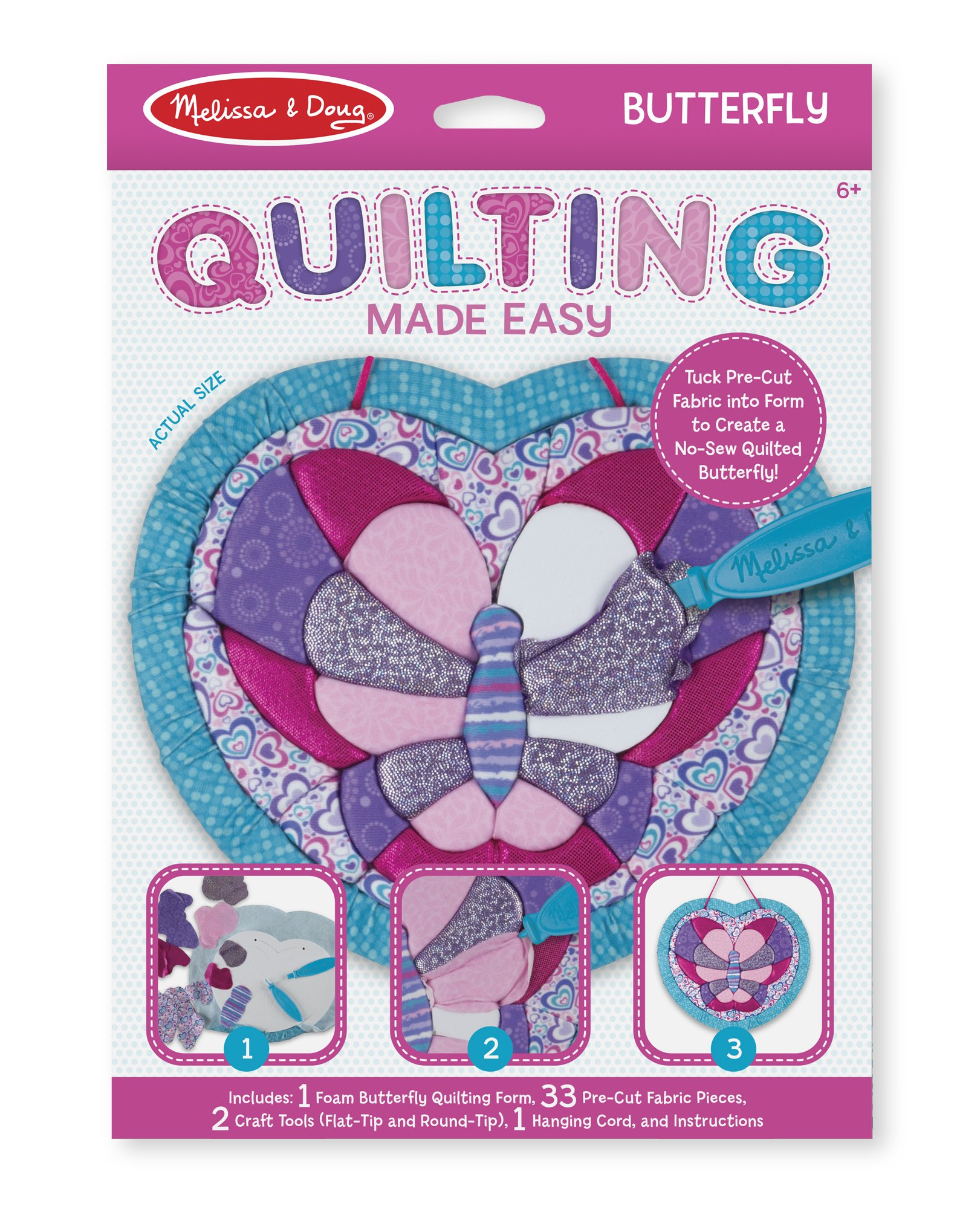 Melissa & Doug Quilting Made Easy - Butterfly Toy (Great Gift for Girls and Boys - Best for 6, 7, 8, 9, 10 Year Olds and Up)